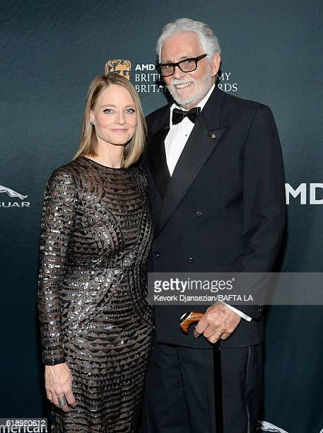 Honoree Jodie Foster and actor David Hedison attend the 2016 AMD British Academy Britannia Awards presented by Jaguar Land Rover and American...