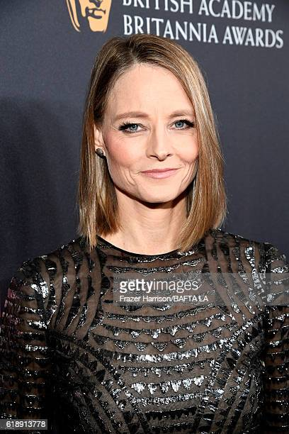 Honoree Jodie Foster attends the 2016 AMD British Academy Britannia Awards presented by Jaguar Land Rover and American Airlines at The Beverly Hilton...