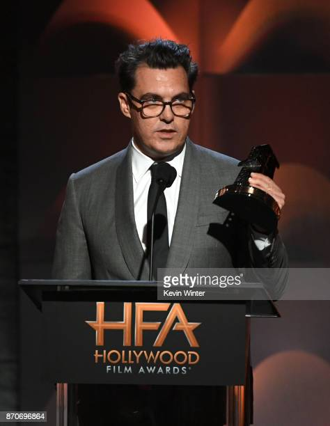Honoree Joe Wright accepts the Hollywood Director Award for 'Darkest Hour' onstage during the 21st Annual Hollywood Film Awards at The Beverly Hilton...