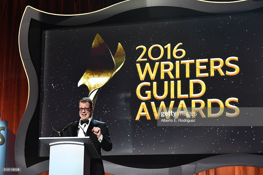 Honoree John McNamara accepts the Paul Selvin Award onstage during the 2016 Writers Guild Awards at the Hyatt Regency Century Plaza on February 13, 2016 in Los Angeles, California.
