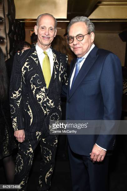 Honoree John Waters and host Lewis Black attend 69th Writers Guild Awards New York Ceremony at Edison Ballroom on February 19 2017 in New York City
