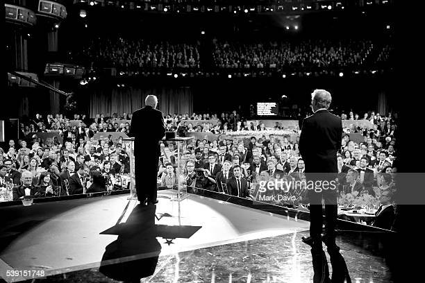Honoree John Williams accepts the AFI Life Achievement Award from director Steven Spielberg onstage during American Film Institute's 44th Life...