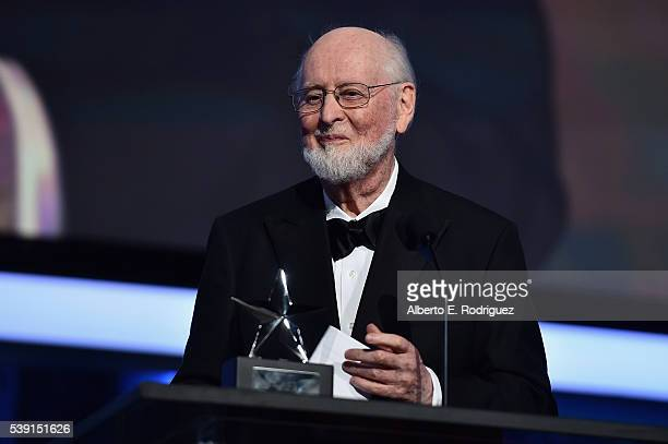 Honoree John Williams accepts the Life Achievement Award onstage during American Film Institute's 44th Life Achievement Award Gala Tribute show to...