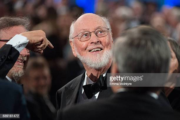 Honoree John Williams and director Steven Spielberg attend the 2016 American Film Institute Life Achievement Awards Honoring John Williams at Dolby...