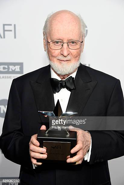Honoree John Williams poses during the mock presentation at American Film Institute's 44th Life Achievement Award Gala Tribute reception to John...