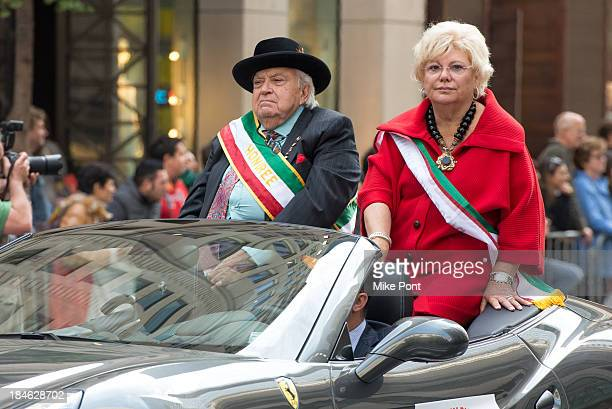 Honoree Joseph Mattone attends the annual Columbus Day Parade on October 14, 2013 in New York City.