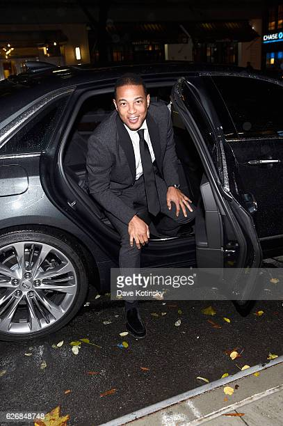 Honoree journalist Don Lemon arrives at The inaugural Native Son Awards honoring George C Wolfe Don Lemon and DeRay Mckesson at Cadillac House on...