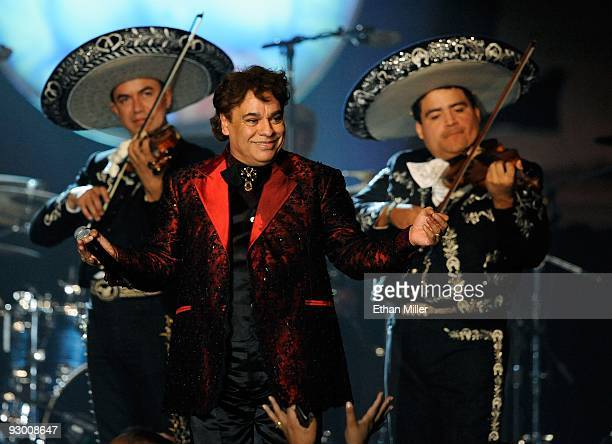 Honoree Juan Gabriel performs during the 2009 Person of the Year show honoring Juan Gabriel at the Mandalay Bay Resort Casino November 4 2009 in Las...
