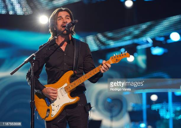 Honoree Juanes performs onstage during the Latin Recording Academy's 2019 Person of the Year gala honoring Juanes at the Premier Ballroom at MGM...