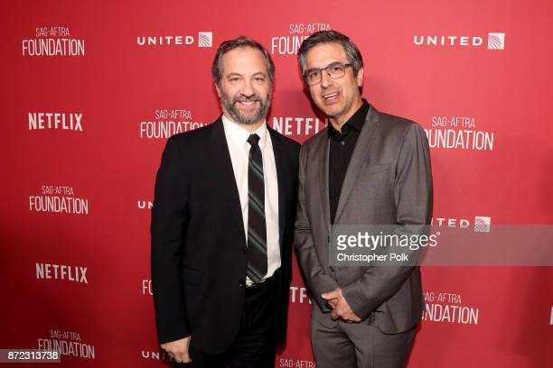 Honoree Judd Apatow and Ray Romano attend the SAGAFTRA Foundation Patron of the Artists Awards 2017 at the Wallis Annenberg Center for the Performing...