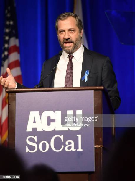 Honoree Judd Apatow speaks onstage at ACLU SoCal Hosts Annual Bill of Rights Dinner at the Beverly Wilshire Four Seasons Hotel on December 3 2017 in...