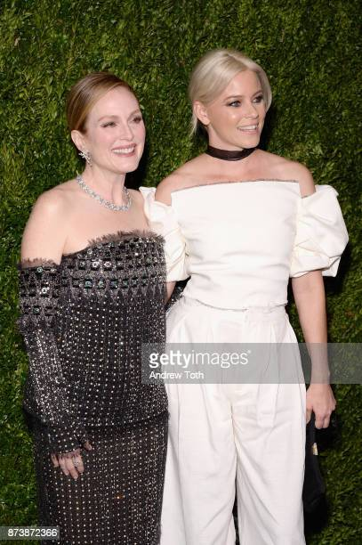 Honoree Julianne Moore and actress Elizabeth Banks attend The Museum of Modern Art Film Benefit presented by CHANEL A Tribute to Julianne Moore at...
