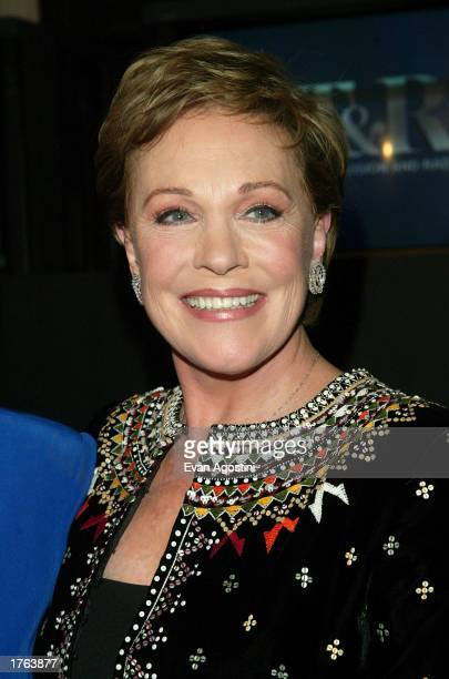 Honoree Julie Andrews attends The Museum of Television Radio's Annual Honors Gala at the WaldorfAstoria February 5 2003 in New York City New York