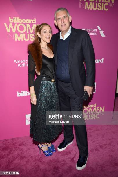Honoree Julie Greenwald and YouTube Global Head of Music Lyor Cohen attend Billboard Women In Music 2017 at The Ray Dolby Ballroom at Hollywood...