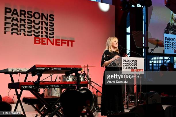 Honoree Julie Wainwright speaks onstage during the 71st Annual Parsons Benefit honoring Pharrell, Everlane, StitchFix & The RealReal on May 20, 2019...