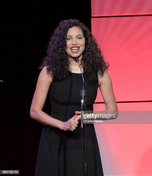 Honoree Jurnee SmollettBell accepts award onstage during the 42nd Annual Gracie Awards hosted by The Alliance for Women in Media at the Beverly...