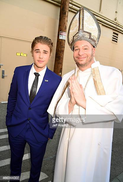 Honoree Justin Bieber and comedian Jeffrey Ross attend The Comedy Central Roast of Justin Bieber at Sony Pictures Studios on March 14, 2015 in Los...