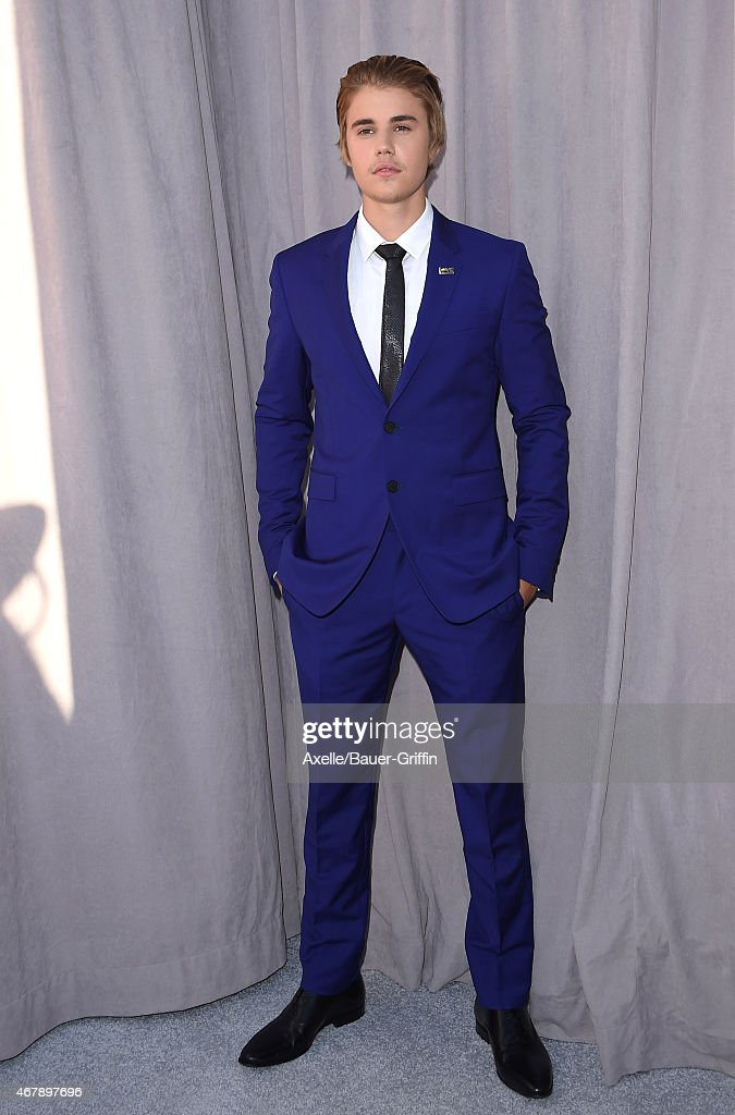 Honoree Justin Bieber arrives at the Comedy Central Roast of Justin Bieber on March 14, 2015 in Los Angeles, California.