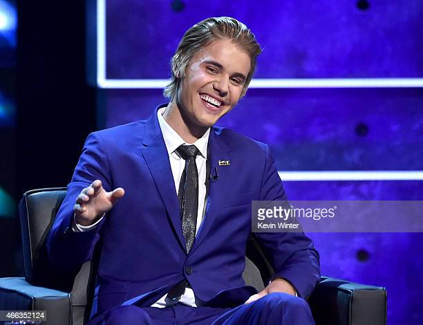 Honoree Justin Bieber onstage at The Comedy Central Roast of Justin Bieber at Sony Pictures Studios on March 14, 2015 in Los Angeles, California. The...