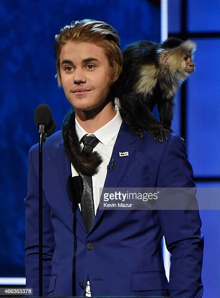 Honoree Justin Bieber speaks onstage at The Comedy Central Roast of Justin Bieber at Sony Pictures Studios on March 14 2015 in Los Angeles California...