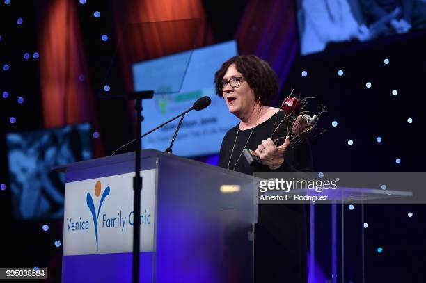 Honoree Karen Wilson attends the Venice Family Clinic's 36th Annual Silver Circle Gal at The Beverly Hilton Hotel on March 19 2018 in Beverly Hills...