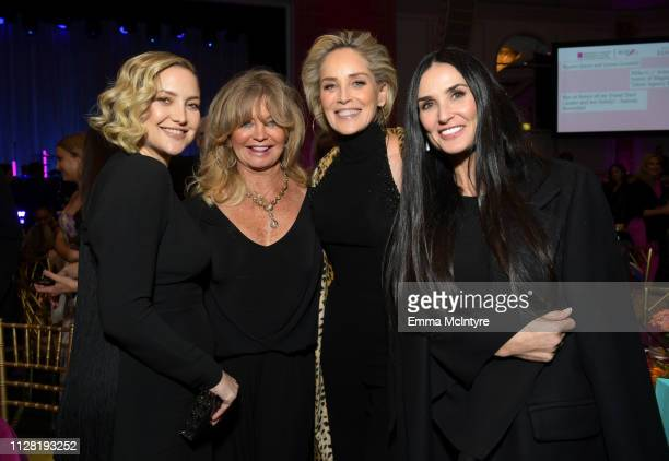 Honoree Kate Hudson Goldie Hawn Sharon Stone and Demi Moore attend WCRF's An Unforgettable Evening at the Beverly Wilshire Four Seasons Hotel on...