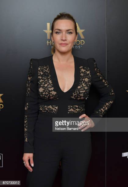 Honoree Kate Winslet recipient of the Hollywood Actress Award for 'Wonder Wheel' poses in the press room during the 21st Annual Hollywood Film Awards...