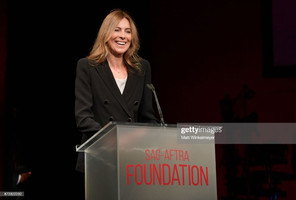 Honoree Kathryn Bigelow speaks onstage at the SAG-AFTRA Foundation Patron of the Artists Awards 2017 at the Wallis Annenberg Center for the Performing Arts on November 9, 2017 in Beverly Hills, California.