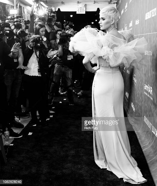 Honoree Katy Perry attends the amfAR Gala Los Angeles 2018 at Wallis Annenberg Center for the Performing Arts on October 18 2018 in Beverly Hills...