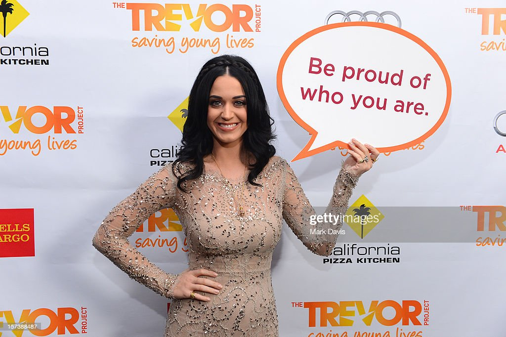 Honoree Katy Perry poses in the Getty Images and Wonderwall.com photo booth and green room at 'Trevor Live' honoring Katy Perry and Audi of America for The Trevor Project held at The Hollywood Palladium on December 2, 2012 in Los Angeles, California.