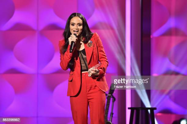 Honoree Kehlani accepts the Rule Breaker Award onstage during Billboard Women In Music 2017 at The Ray Dolby Ballroom at Hollywood Highland Center on...