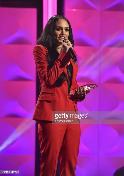 Honoree Kehlani accepts the Rulebreaker Award onstage at Billboard Women In Music 2017 at The Ray Dolby Ballroom at Hollywood Highland Center on...