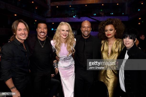 Honoree Keith Urban singersongwriter Lionel Richie actress Nicole Kidman singersongwriter Common singersongwriter Andra Day and songwriter Diane...