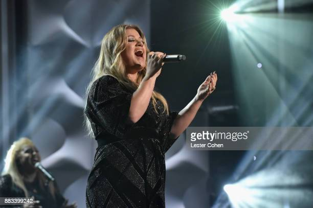Honoree Kelly Clarkson performs onstage at Billboard Women In Music 2017 at The Ray Dolby Ballroom at Hollywood Highland Center on November 30 2017...