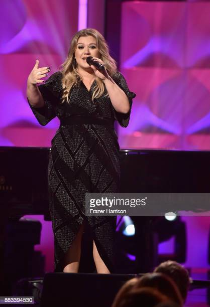 Honoree Kelly Clarkson speaks onstage during Billboard Women In Music 2017 at The Ray Dolby Ballroom at Hollywood Highland Center on November 30 2017...
