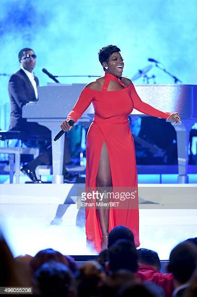 Honoree Kenneth Babyface Edmonds and recording artist Fantasia Barrino perform onstage during the 2015 Soul Train Music Awards at the Orleans Arena...