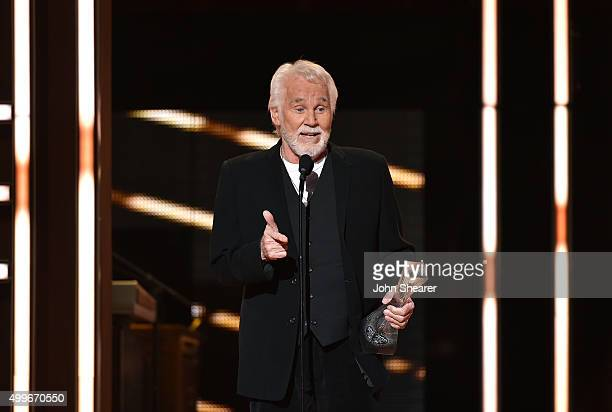 Honoree Kenny Rogers accepts an award onstage during the 2015 CMT Artists of the Year at Schermerhorn Symphony Center on December 2 2015 in Nashville...