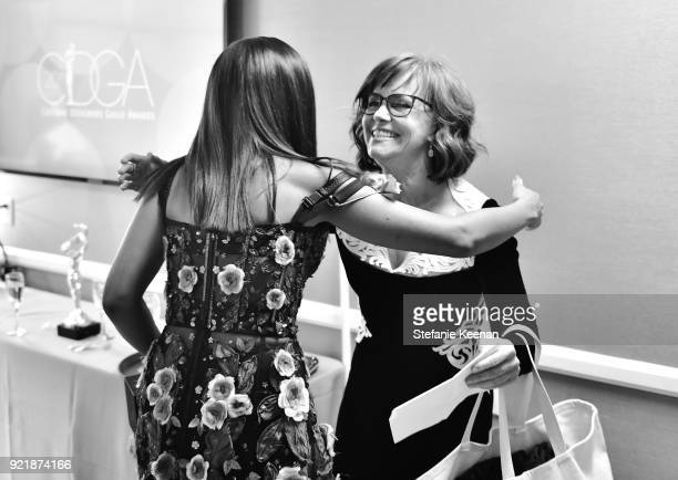 Honoree Kerry Washington and actor Sally Field attend the Costume Designers Guild Awards at The Beverly Hilton Hotel on February 20 2018 in Beverly...