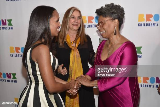 Honoree Kerry Washington Executive Director Carla Precht and President Hope Harley attend the Bronx Children's Museum Gala at Tribeca Rooftop on May...