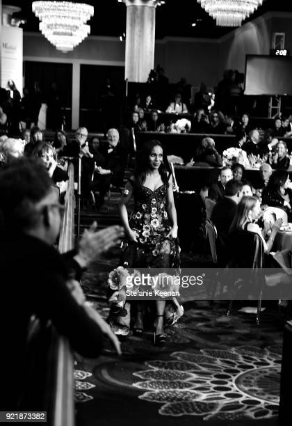 Honoree Kerry Washington recipient of the Spotlight Award attends the Costume Designers Guild Awards at The Beverly Hilton Hotel on February 20 2018...