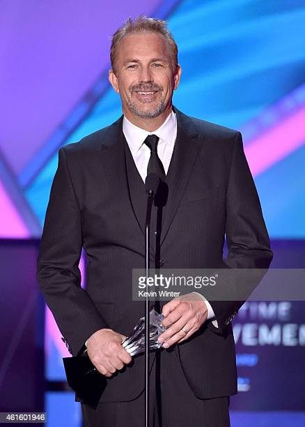Honoree Kevin Costner accepts the Lifetime Achievement Award onstage during the 20th annual Critics' Choice Movie Awards at the Hollywood Palladium...