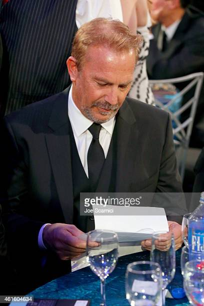 Honoree Kevin Costner attends the 20th annual Critics' Choice Movie Awards at the Hollywood Palladium on January 15 2015 in Los Angeles California
