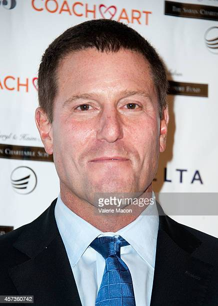 Honoree Kevin Mayer from the Walt Disney Company arrives at CoachArt Gala Of Champions at The Beverly Hilton Hotel on October 16 2014 in Beverly...