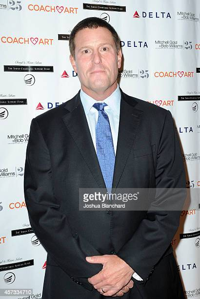 Honoree Kevin Mayer from the Walt Disney Company arrives at the CoachArt Gala Of Champions at The Beverly Hilton Hotel on October 16 2014 in Beverly...