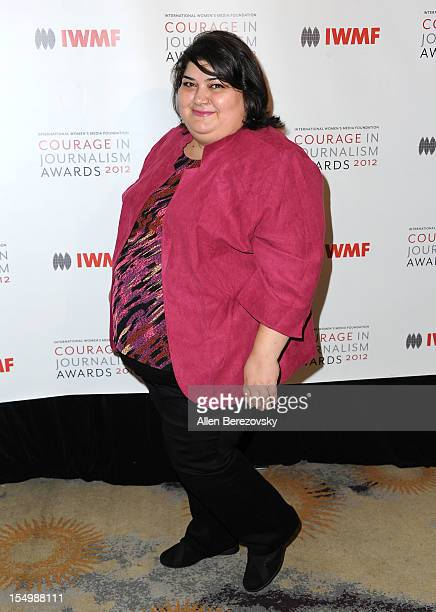 Honoree Khadija Ismayilova arrives at the 2012 Courage in Journalism Awards hosted by the International Women's Media Foundation held at the Beverly...