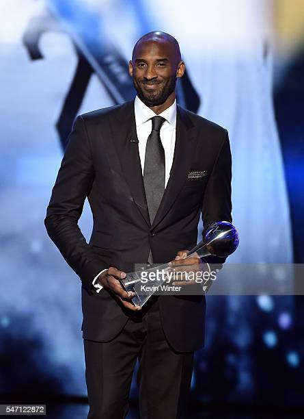 Honoree Kobe Bryant accepts the Icon Award onstage during the 2016 ESPYS at Microsoft Theater on July 13 2016 in Los Angeles California