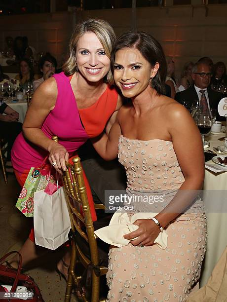 Honoree Kristine Johnson poses for a photo with journalist Amy Robach during the TJ Martell Foundation 4th Annual Women Of Influence Awards on May 13...