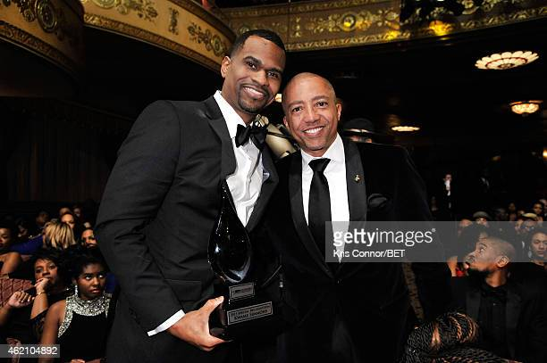 Honoree Kwame Simmons and record executive Kevin Liles during 'The BET Honors' 2015 at Warner Theatre on January 24 2015 in Washington DC