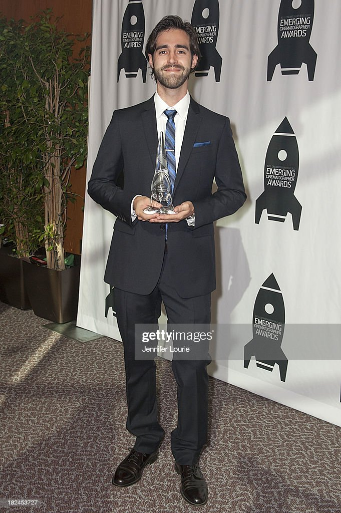 Honoree Kyle Klutz attends The International Cinematographers Guild's 17th Annual Emerging Cinematographer Awards at Directors Guild Of America on September 29, 2013 in Los Angeles, California.