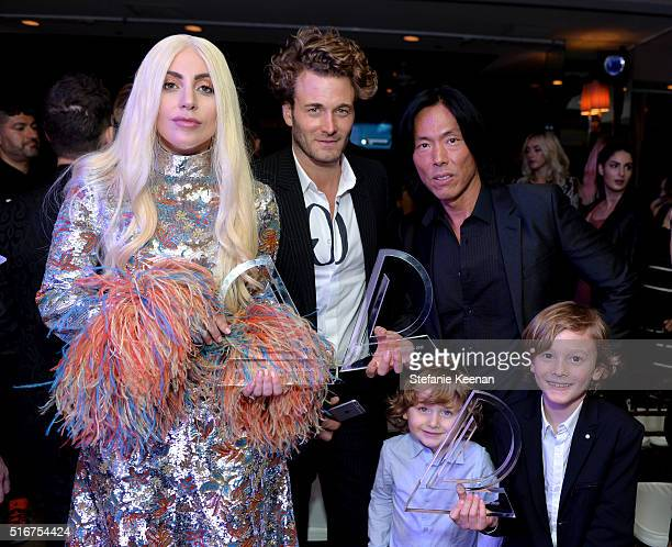 Honoree Lady Gag and model Brad Kroenig Jameson Kroenig V Magazine EditorInChief Stephen Gan and Hudson Kroenig attend The Daily Front Row Fashion...